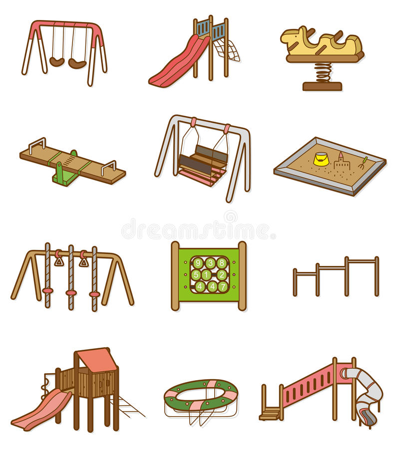 Download Cartoon playground icon stock vector. Illustration of illustration - 17951135