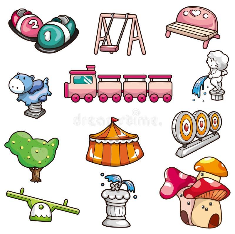 Download Cartoon playground icon stock vector. Image of amusement - 18731871