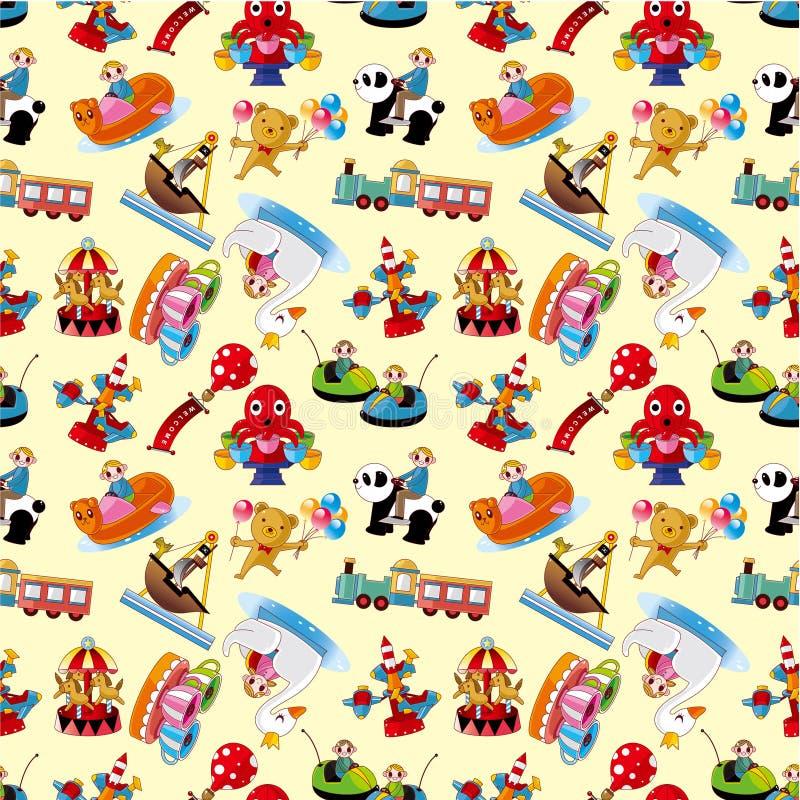 Cartoon playground seamless pattern. Illustration royalty free illustration