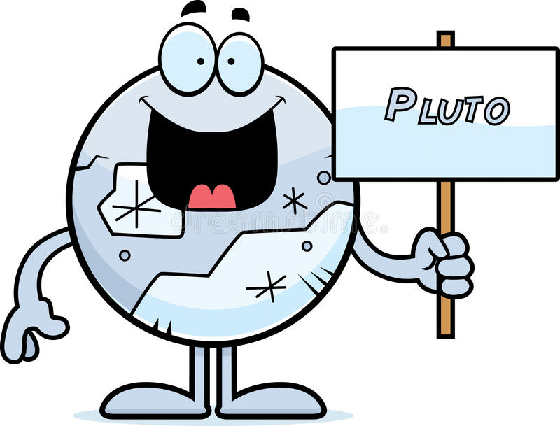 cartoon pluto sign stock vector illustration of clipart 47066199 rh dreamstime com