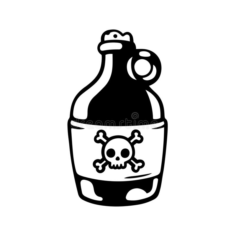 XXX Alcohol Bottle Stock Vector. Illustration Of Design