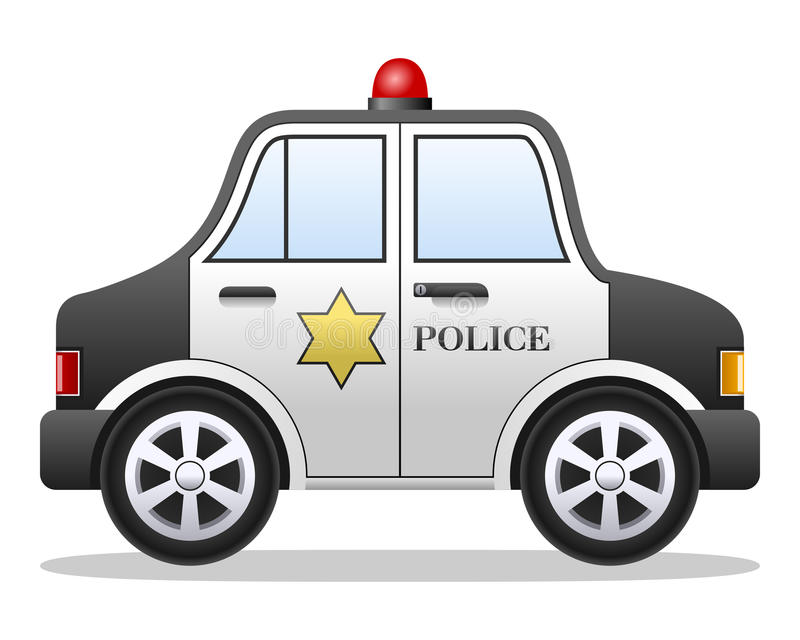 Cartoon Police Car. Isolated on white background. Eps file available stock illustration