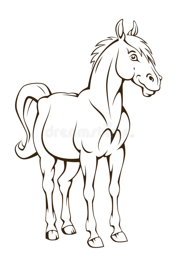 Download Cartoon pony stock vector. Image of foal, illustration - 31522027