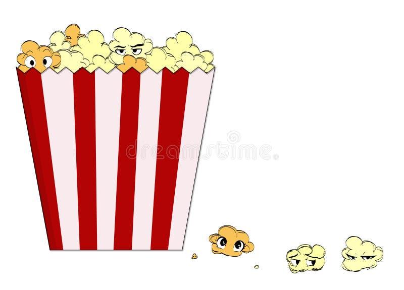 Cartoon popcorn stock image