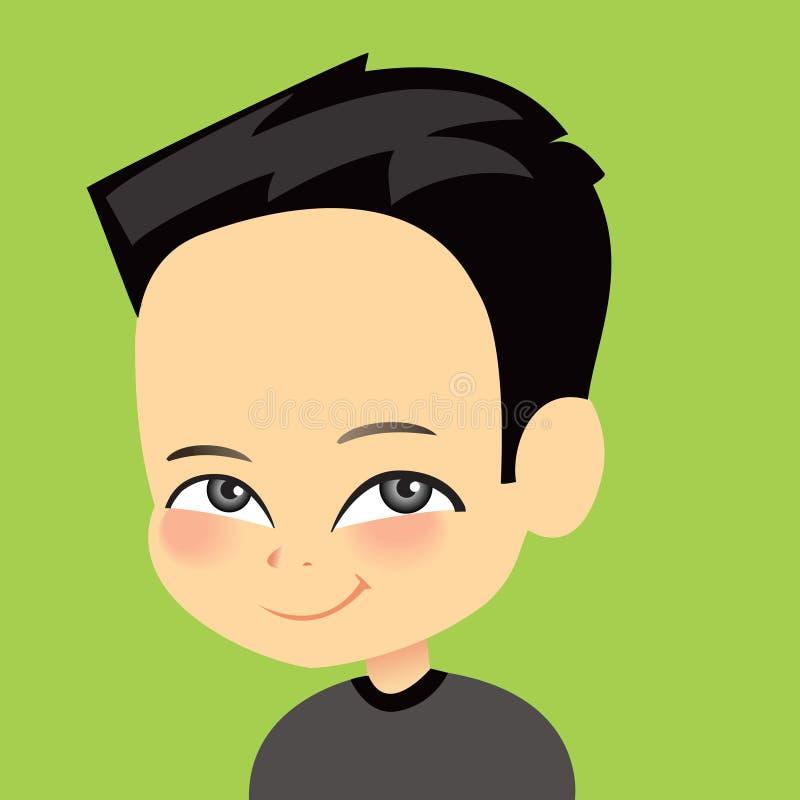 Download Cartoon portrait stock illustration. Image of teen, drawing - 10077836