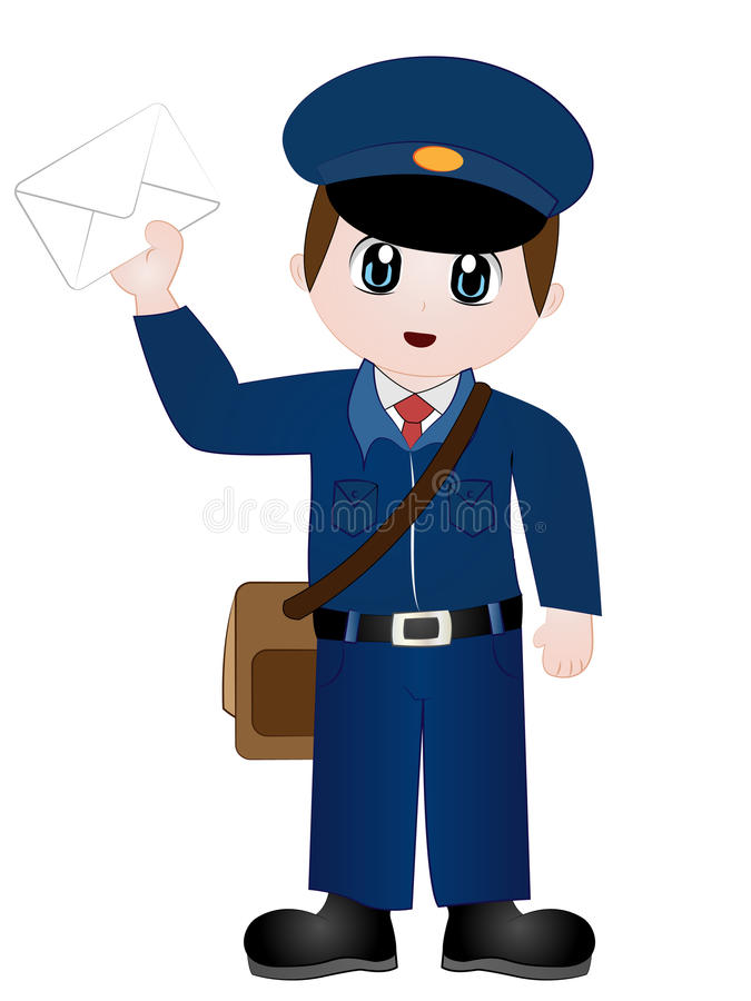 cartoon postman clip art stock vector illustration of letter 88123974 rh dreamstime com clip art stock photos free clip art stockton blackhawks