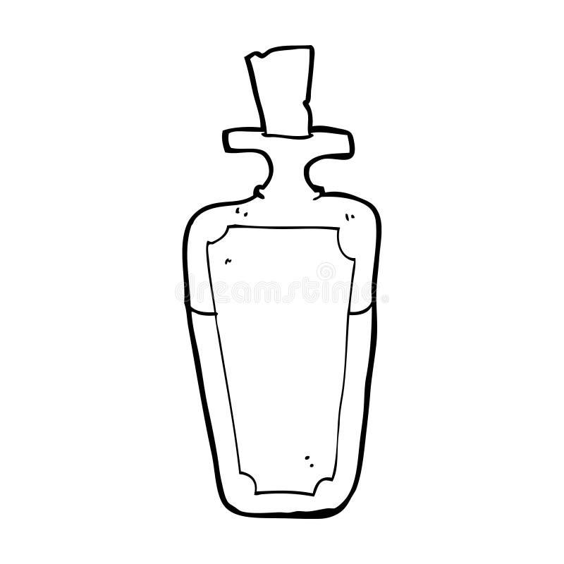 Cartoon potion bottle stock illustration illustration of for Coloring pages of bottles
