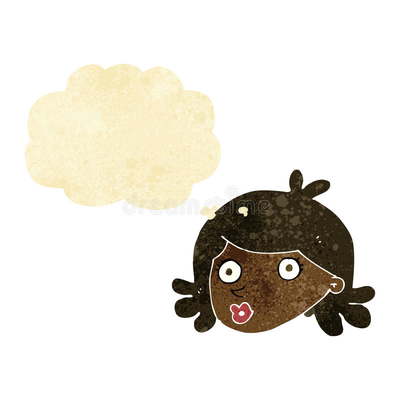 Cartoon Pretty Face With Thought Bubble Stock Illustration ... |Pretty Thought Bubbles