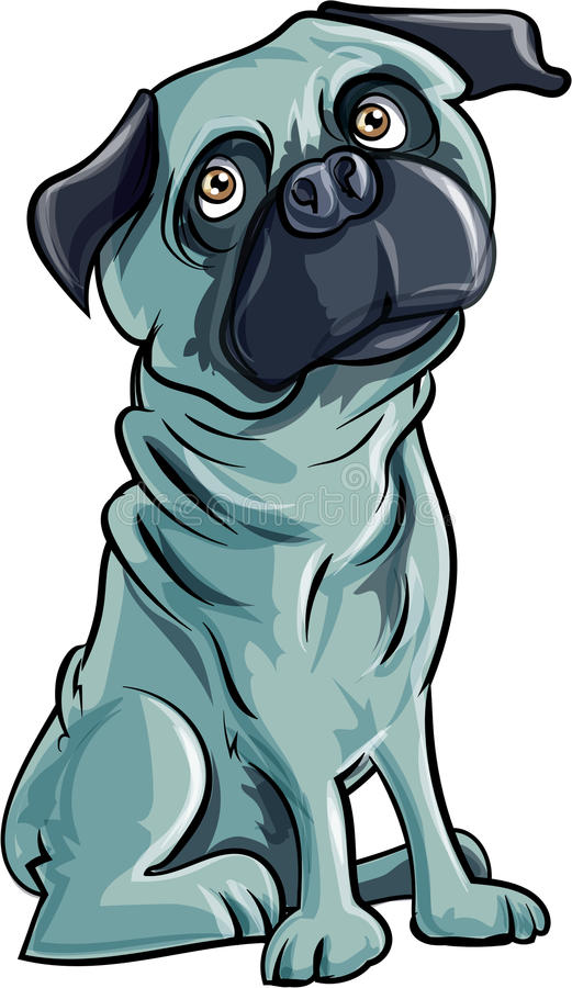 Download Cartoon pug dog stock illustration. Image of species - 39946707