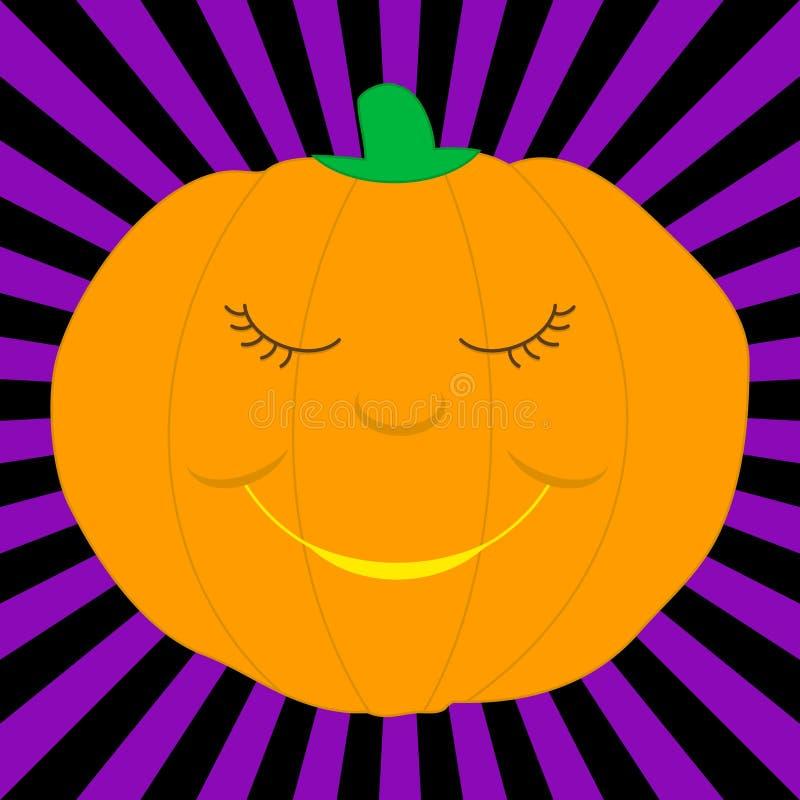 Cartoon pumpkin vector illustration