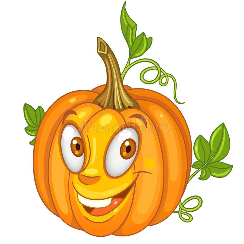 Cartoon Pumpkin character royalty free stock image