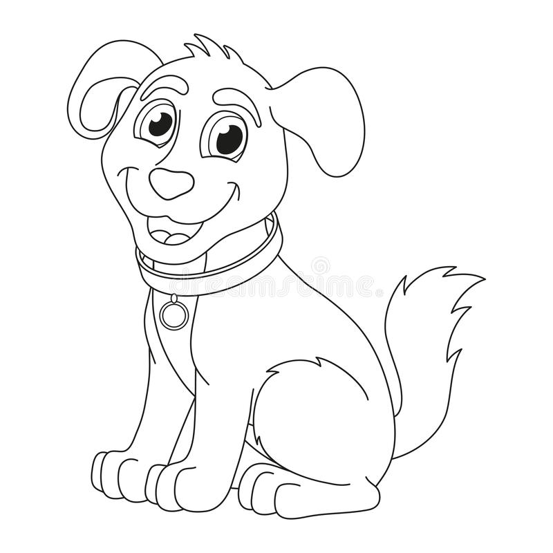 Free Cartoon Puppy, Coloring Book Page For Children Royalty Free Stock Images - 56537549