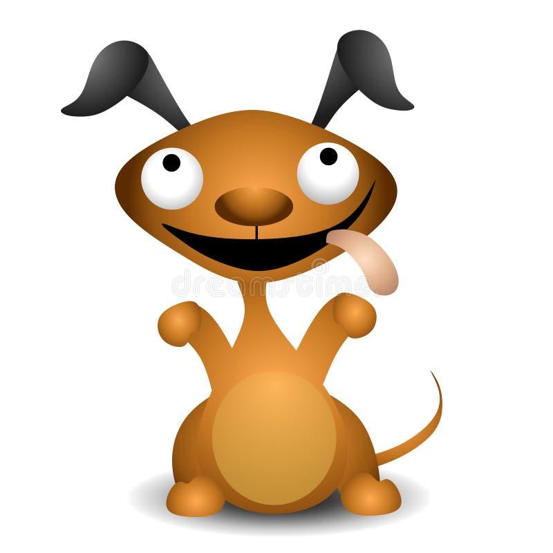 Cartoon Puppy Dog Begging. An illustration featuring a puppy dog begging with tongue hanging out vector illustration