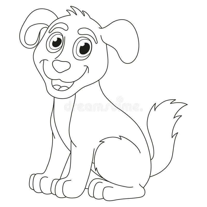 Download Cartoon Puppy Vector Illustration Of Cute Dog Stock