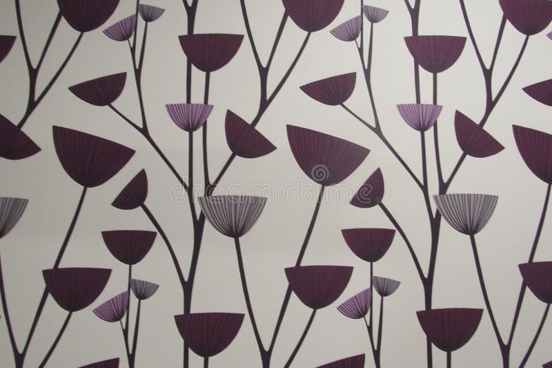 Cartoon Purple Flowers Background stock photography