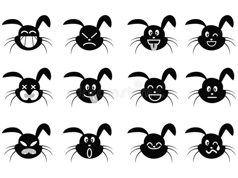 Cartoon Rabbit Face Icon Royalty Free Stock Photos