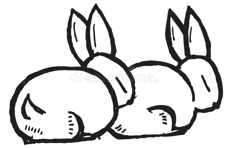 Cartoon rabbits royalty free illustration