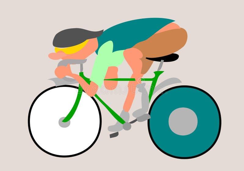 Cartoon racing bike vector illustration