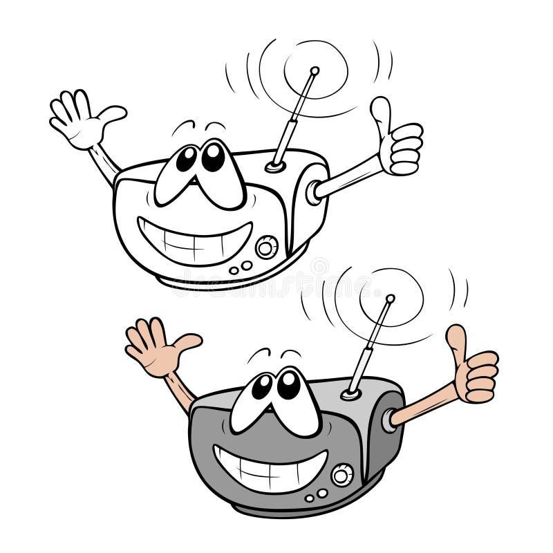 Cartoon radio vector illustration