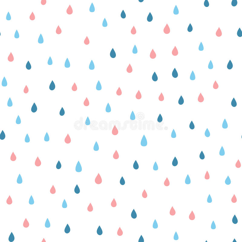 cartoon rain drops seamless pattern with colored raindrops stock rh dreamstime com cartoon raindrops cartoon raindrops