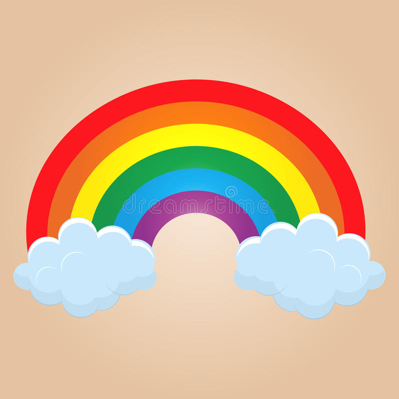 Cartoon rainbow stock illustration