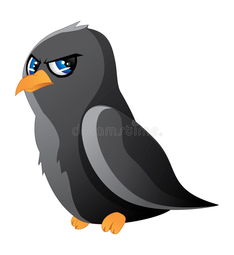 cartoon raven stock vector illustration of pointing 35421173 rh dreamstime com Raven Bird Drawings Raven Bird Tattoo