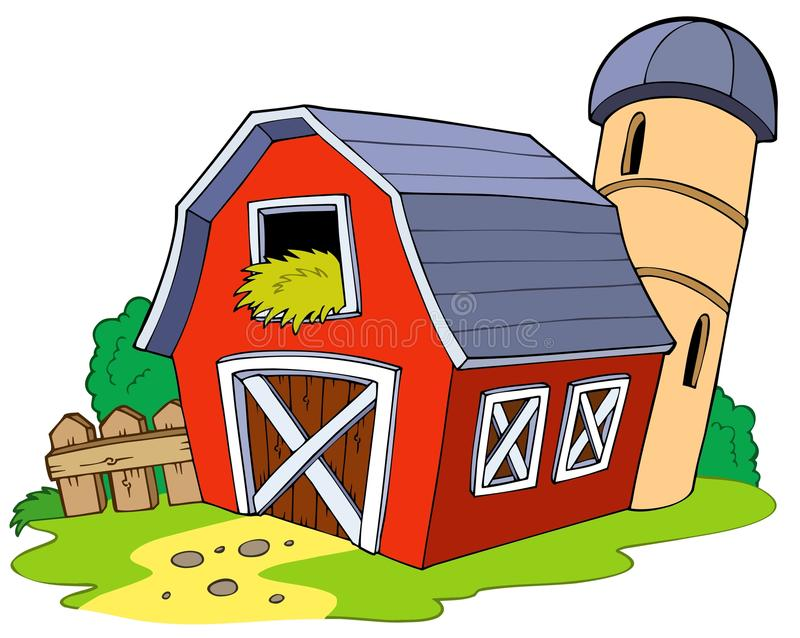 cartoon red barn stock vector illustration of farm colorful 15651646 rh dreamstime com download pictures of cartoon farm house cartoon old farmhouse