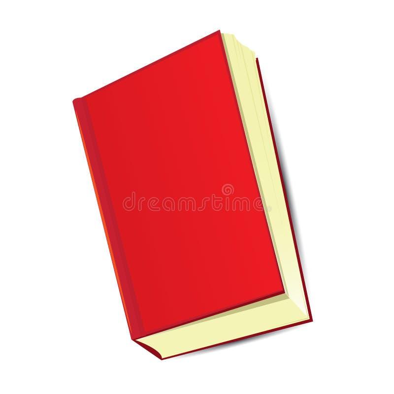 Cartoon red book. vector illustration. vector illustration