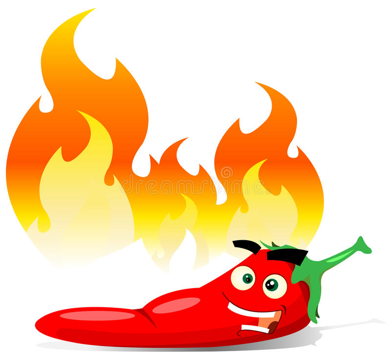 Cartoon Red Hot Chili Pepper Stock Illustration ...