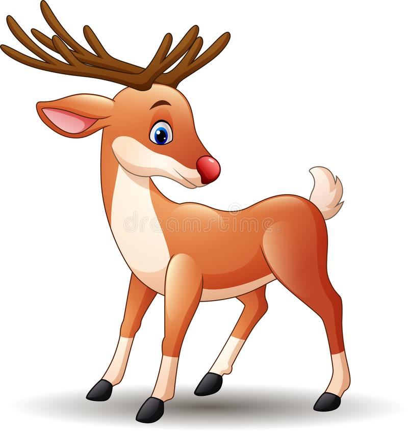 Free Cartoon Red Nose Deer Stock Images - 136771774