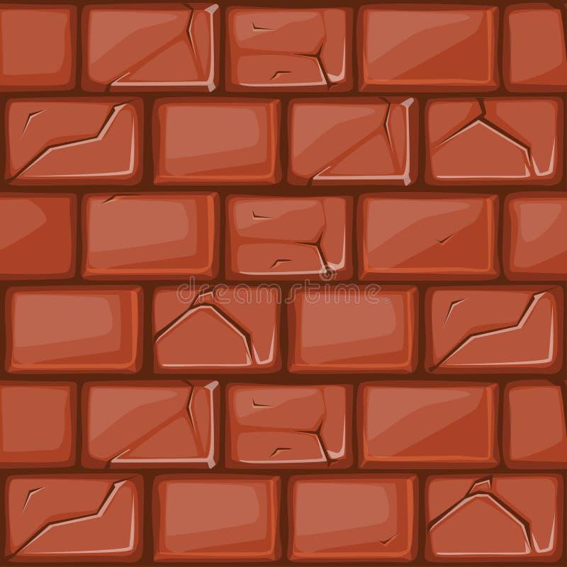 Cartoon Red Stone Wall Texture Stock Vector