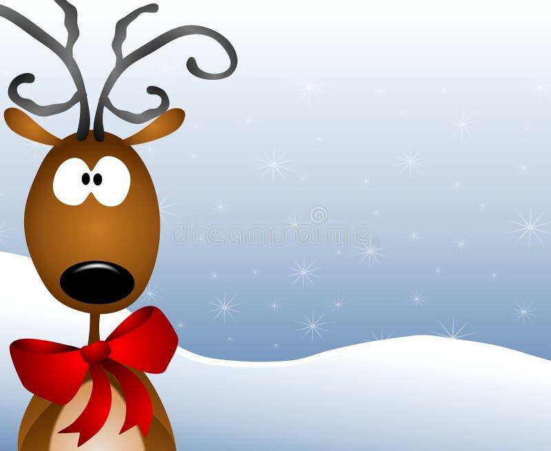 Cartoon Reindeer Background vector illustration