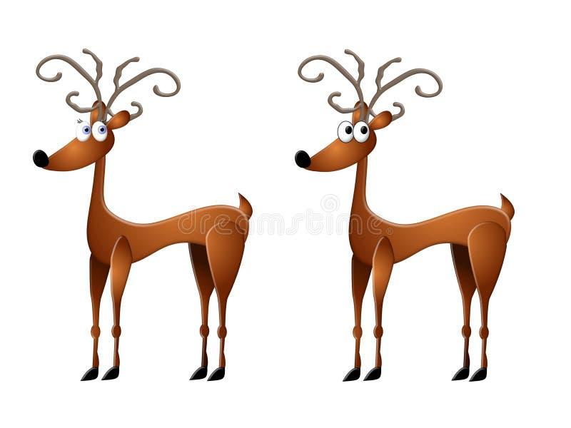Cartoon Reindeer Clip Art vector illustration