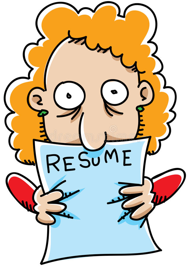 Cartoon Resume Stock Illustrations 2 014 Cartoon Resume Stock Illustrations Vectors Clipart Dreamstime