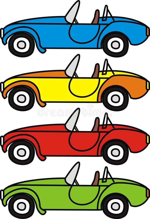 Download Cartoon retro cars stock vector. Illustration of isolated - 18197253