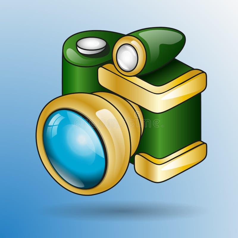 Cartoon retro photo camera royalty free stock photography