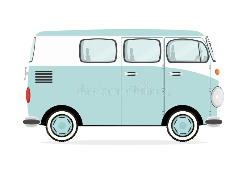 Cartoon retro van vector illustration
