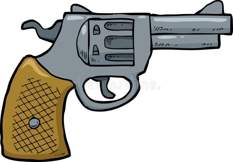Cartoon revolver gun vector illustration