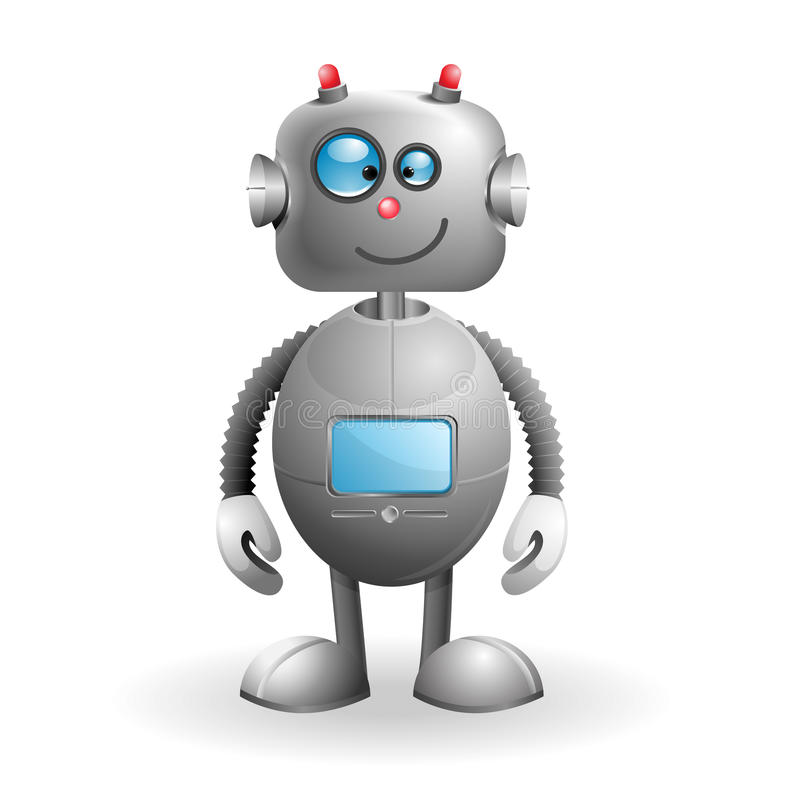 Cartoon Robot. Cute cartoon Robot on a white background. EPS 10 vector illustration stock illustration
