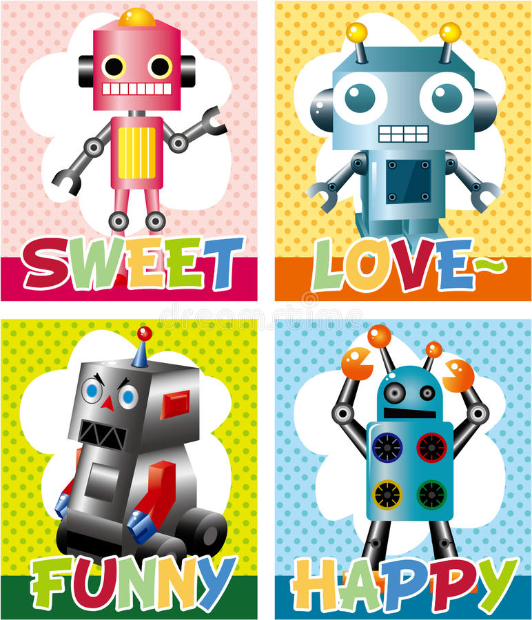 Download Cartoon Robot Card Stock Images - Image: 17785004