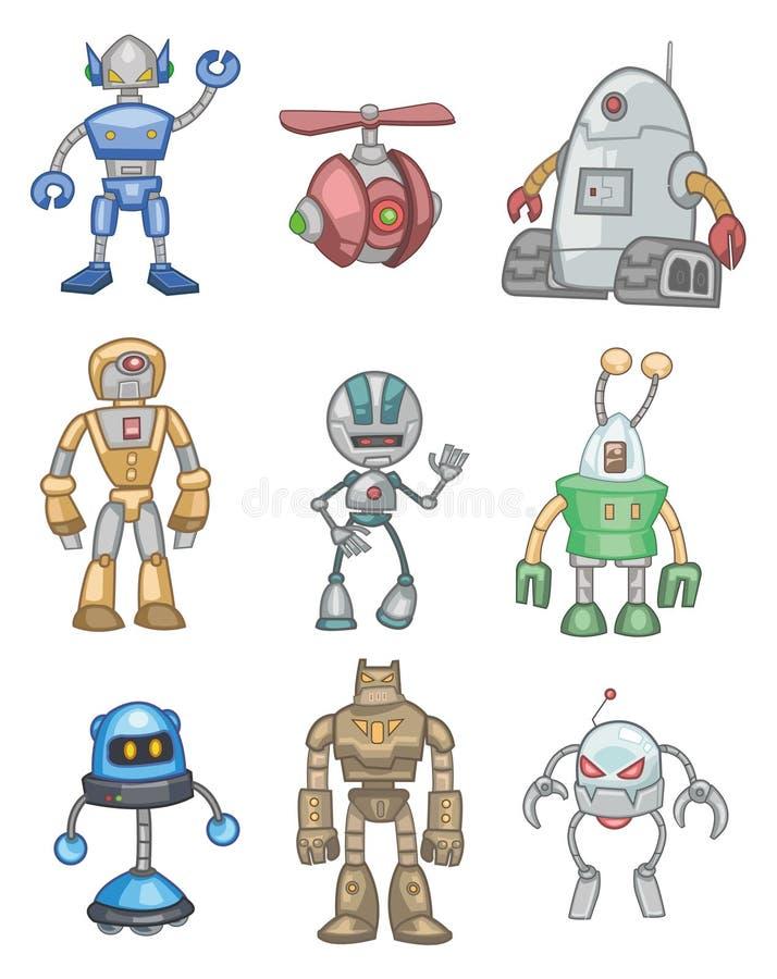 Free Cartoon Robot Icon Royalty Free Stock Images - 17635599