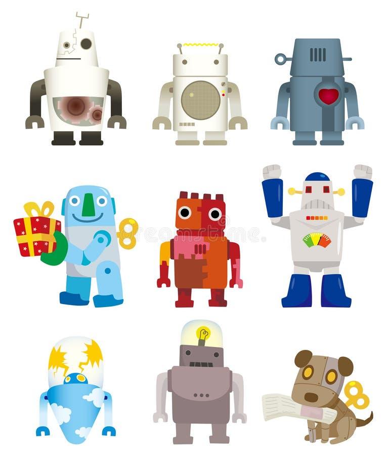 Cartoon robot icon royalty free illustration