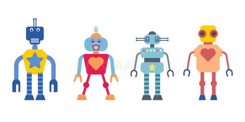 Cartoon robots stock illustration