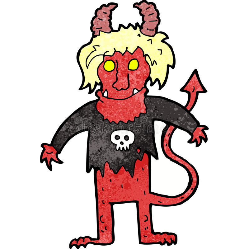 Cartoon Rock Devil Royalty Free Stock Photos