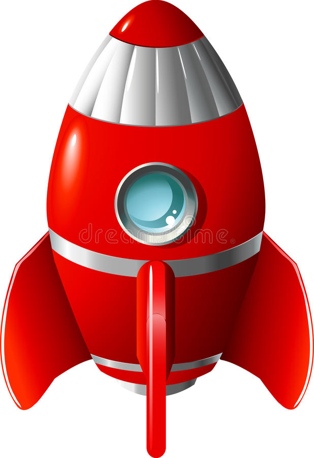 Cartoon rocket stock illustration