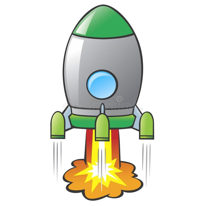 Cartoon Rocket royalty free illustration