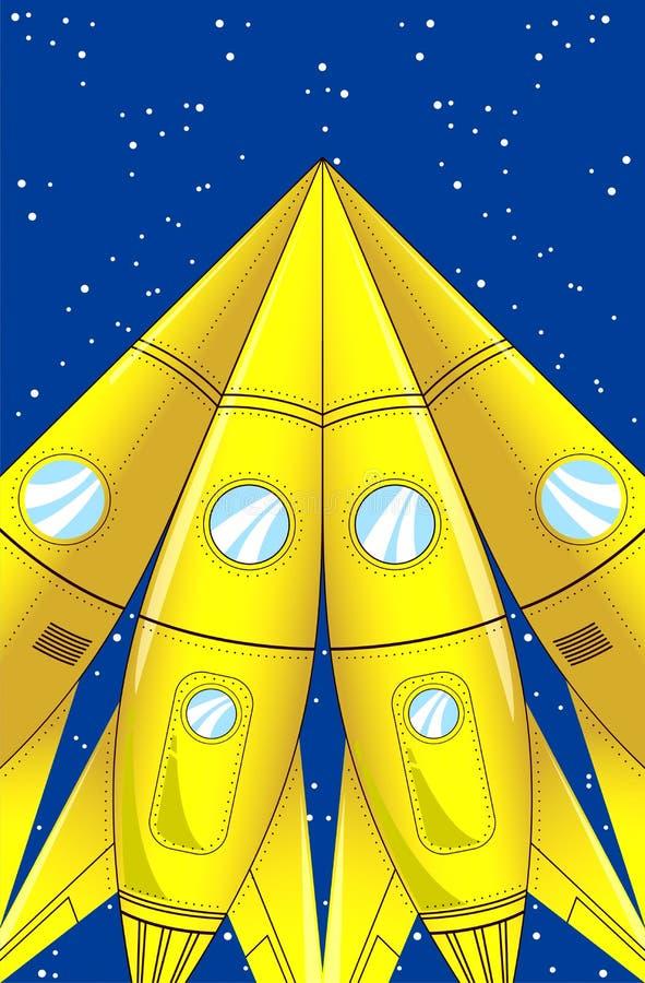 Download Cartoon rocket stock photo. Image of blue, speed, spaceship - 33063032