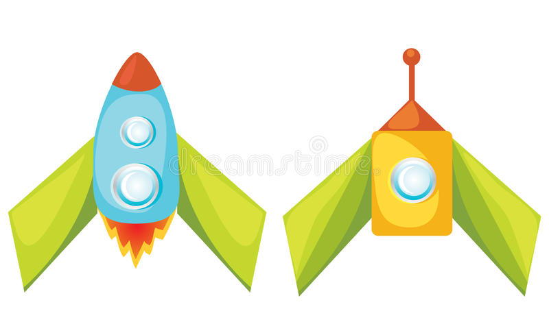 Download Cartoon Rockets. Royalty Free Stock Image - Image: 25351556