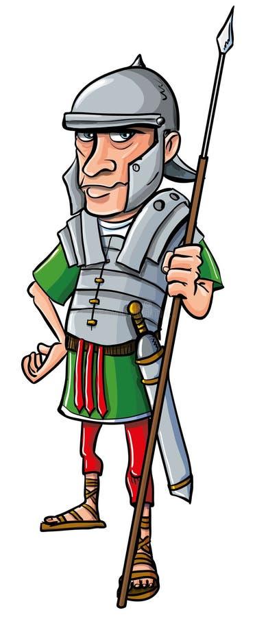 Cartoon Roman Legionary Stock Photos