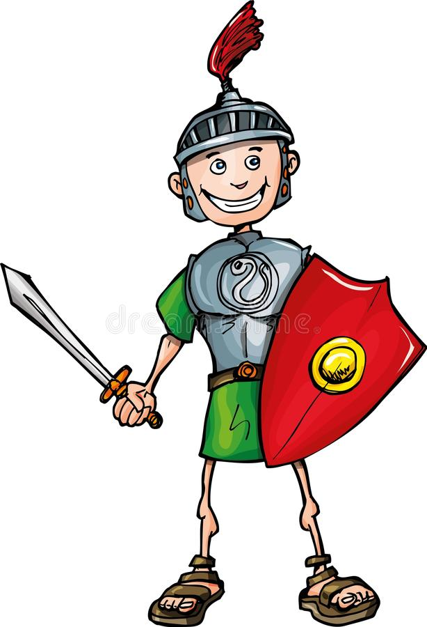 Download Cartoon Roman Legionary With Sword And Shield Stock Vector - Image: 19618285
